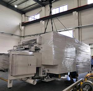 大型进口印刷机吊装搬运