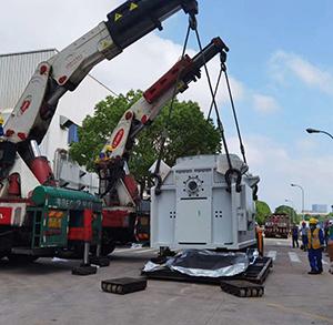 重型设备吊装搬运上楼